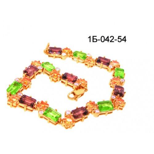 7eaeba7deb61 Золотые цепочки и браслеты   Женский золотой браслет с натуральными камнями  б-042-54