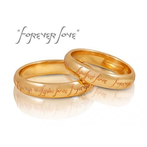 e7aec48fe350 Золотые кольца   Золотые обручальные кольца с гравировкой Forever love