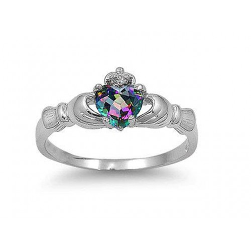 0815eac8699e Золотые кольца   Золотое кладдахское кольцо с александритом к-647-039